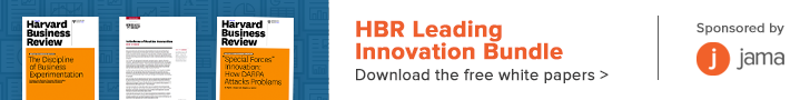HBR Leading Innovation Bundle banner