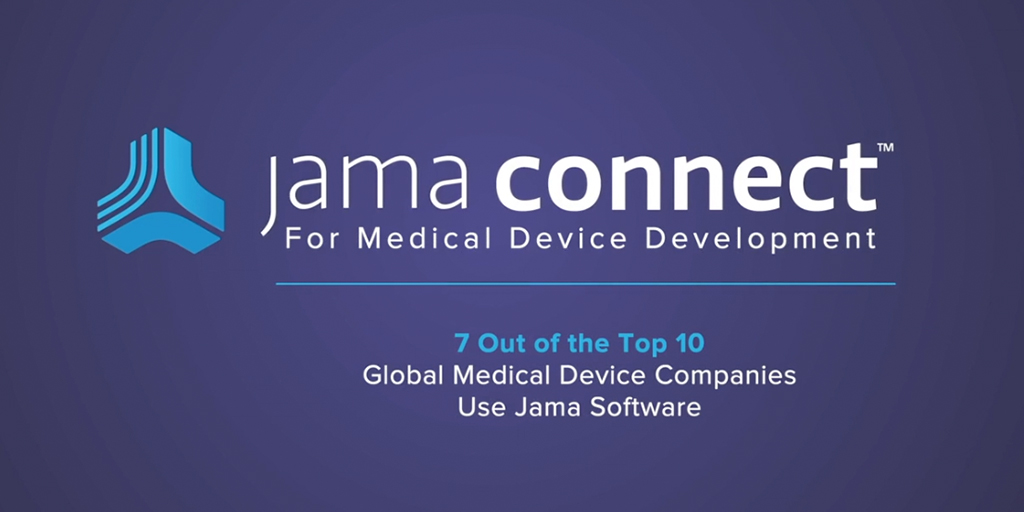 Accelerate medical device development with Jama Connect